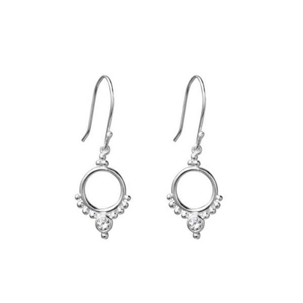 Silver hoop style earring