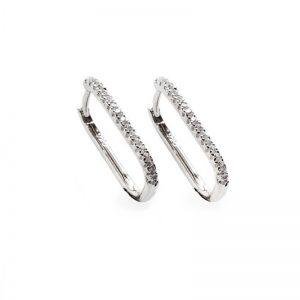 silver rectangular hoop