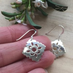 silver intuition design earrings