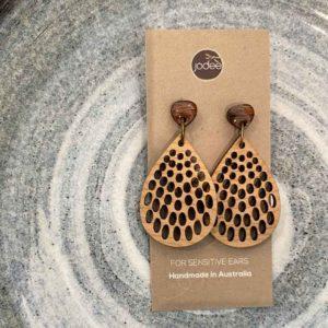 wood jodee earrings