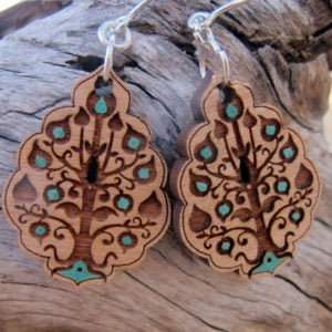 tree of life earring blue