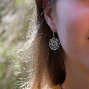 tribal mandala earrings
