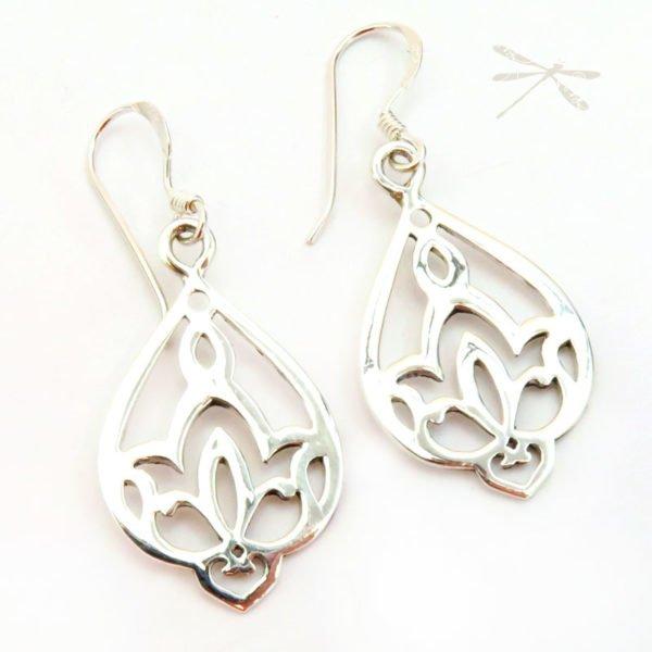 Waterlily earrings 3