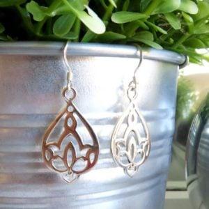 Waterlily earrings2
