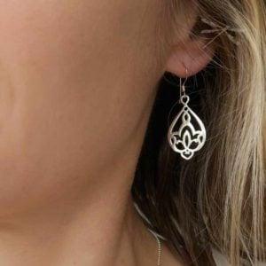 Waterlily earring