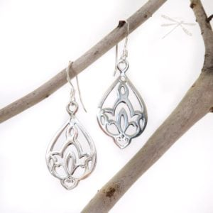 Waterlily earrings 4