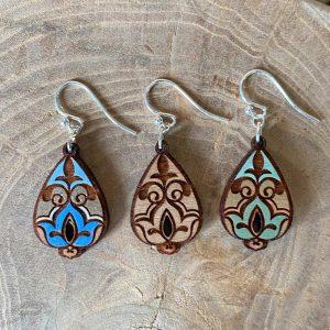 waterlily lotus earrings