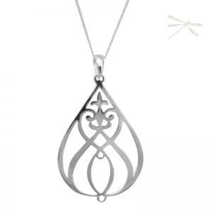 silver pendant Heartfelt