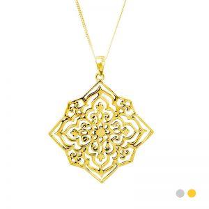 star anusha necklace gold