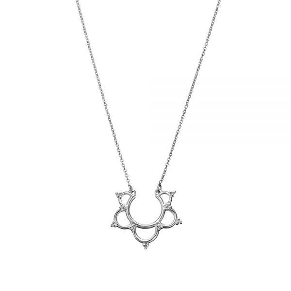 silver lotus flower pendant