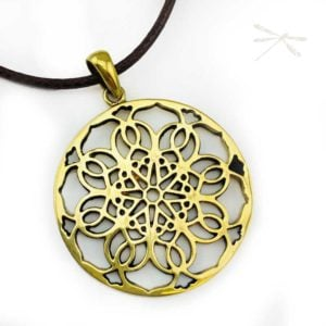 Mandala Pendant brass