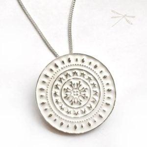 Enamel Mandala pendant