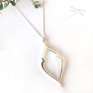 silver goddess pendant