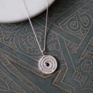 spiral journey pendant
