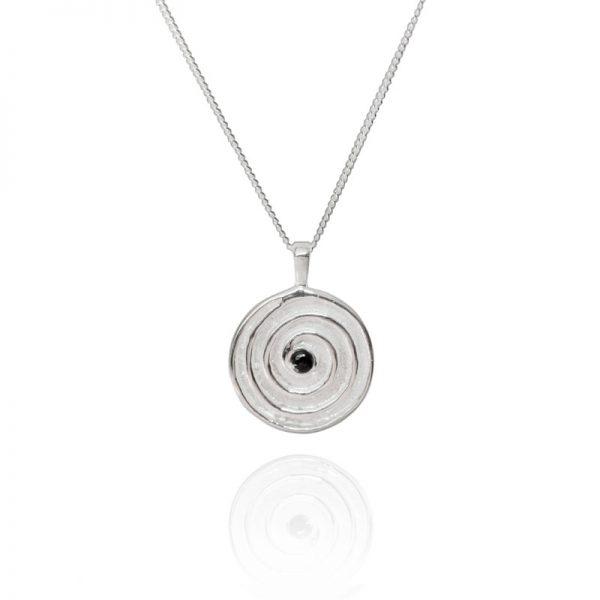journey silver spiral pendant