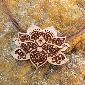 laser cut wood lotus