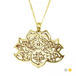 gold lotus flower pendant
