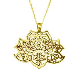 gold lotus pendant
