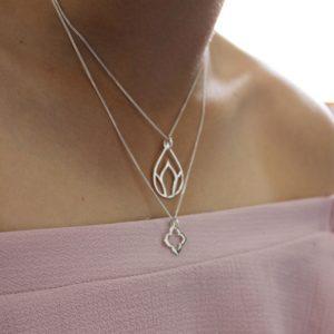 Silver lotus pendant jodee