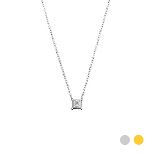 Athena silver necklace