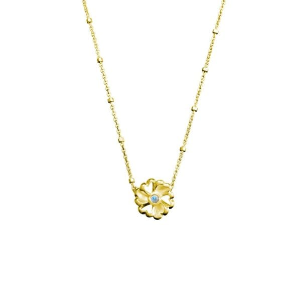 gold flower pendant