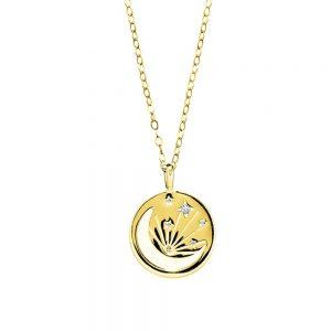 Gold Moonshine pendant