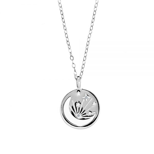 Silver Moon Star pendant