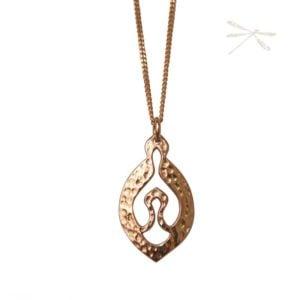 Nurture Rose gold pendant