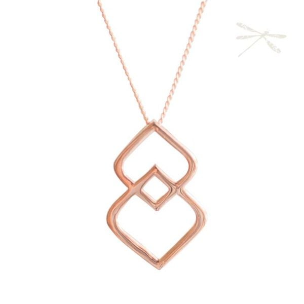unity pendant necklace rose gold
