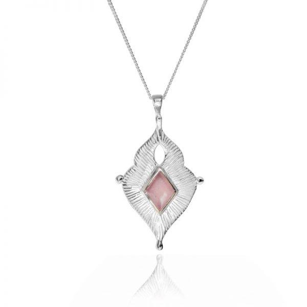 Rose quartz goddess necklace