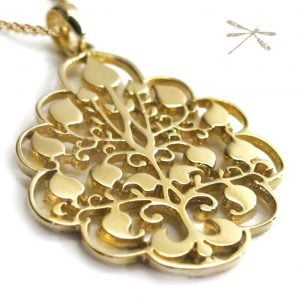 gold Pendant tree of life