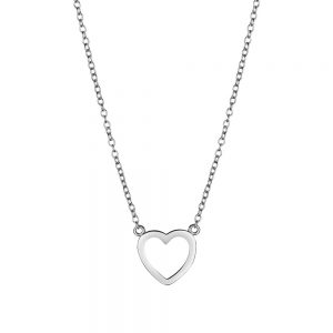 open heart necklace