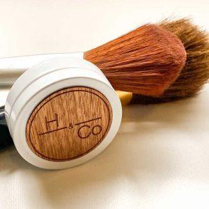 tin and shaving brush