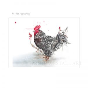 rooster A4 print