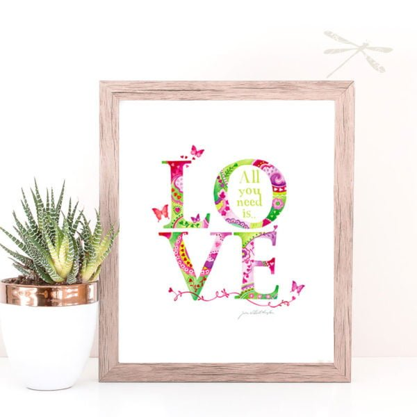 Where there is love print framed