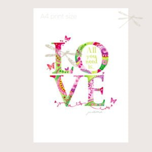 where there is love print