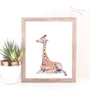 Baby giraffe print