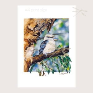 Kookaburra in tree print