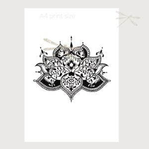 lotus flower print