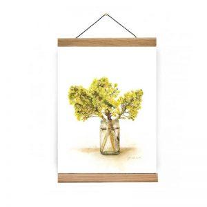 Oak poster hangers