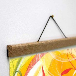 oak magnetic hangers