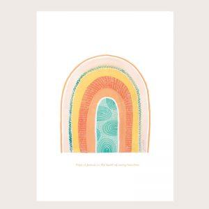 Hope Rainbow print