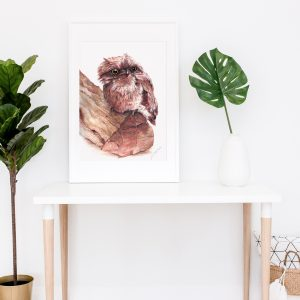 frogmouth print